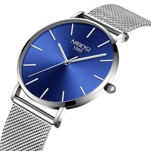 NIBOSI Ultra Thin Fashion Male Wristwatch Top Brand Luxury Business Watches Waterproof Men Watch Clock