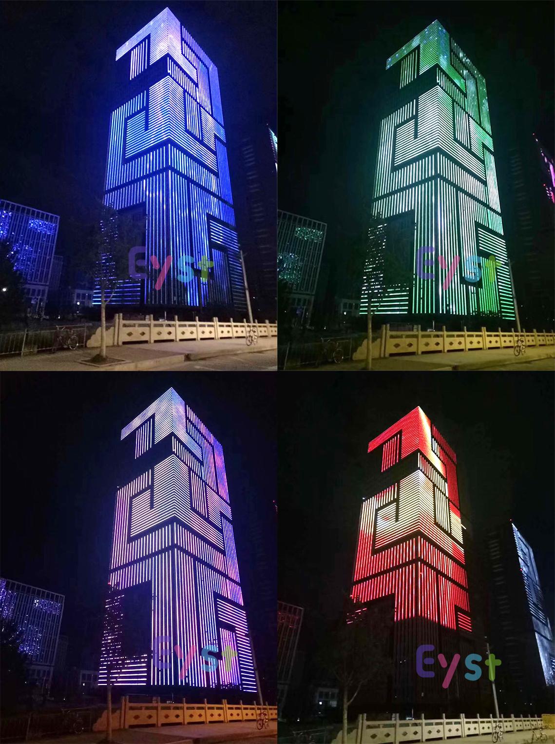 Imperméable extérieur bâtiment affichage éclairage de façade lumineuse à led 3w rvb pixel led