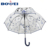 High quality cheap transparent POE windproof umbrellas