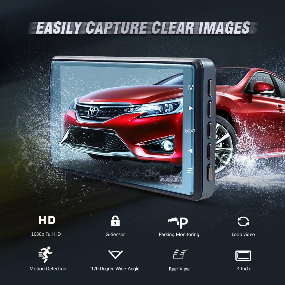 Coche dvr grabadora de disco de 3.6 pulgadas 1080p full hd vehículo blackbox dvr manual del usuario videocámara del coche dashcam / cámara del tablero