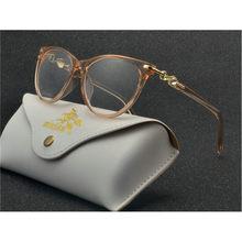 Модные женские очки с кошачьей оправой, брендовые дизайнерские винтажные женские прозрачные линзы, очки с алмазной оправой, оптические очк...(Китай)