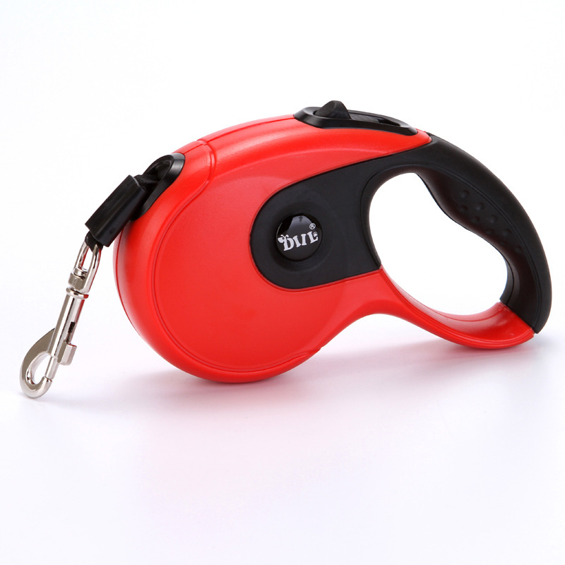 Free Shipping 3M/5M Dog leash rope anti-slip rubber automatic retractable tractor dog leash for Small Medium Dogs