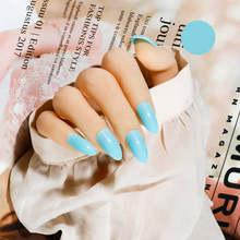 Матовые искусственные накладные ногти на шпильках короткие Im нажмите на искусственные ногти с клеем, стикер серый Kunstnagels Sztuczne Paznokcie(Китай)