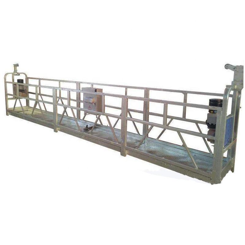 High quality zlp800 aluminium wire rope suspended platform gondola cradle