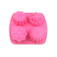Pink Creative Baking Decorative Tools Silicone Flower Pastry Mold