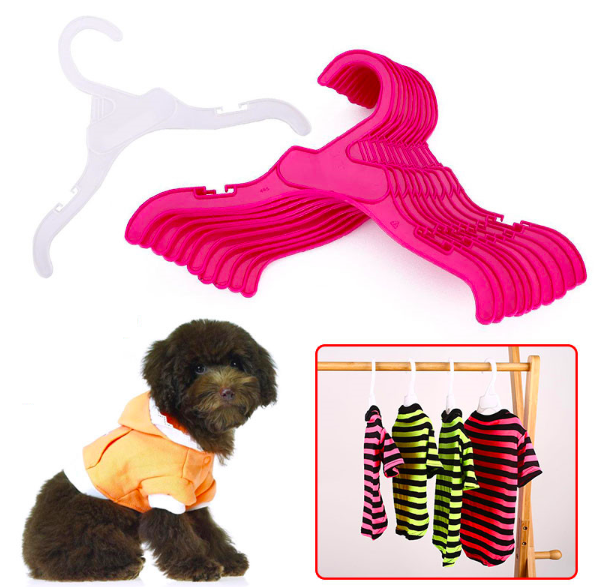 Plastic Tough Pet Dog Puppy Cat Clothes Clothing Rack Hanger 18cm/25cm White&Red Length Dog Product Accessories