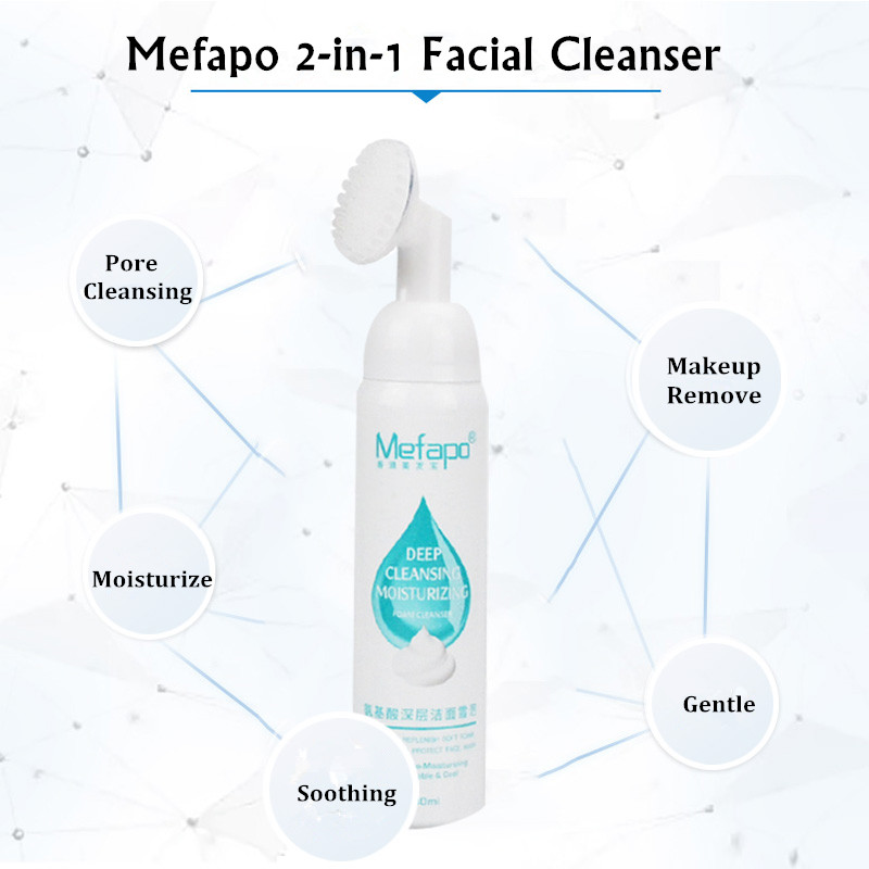 Private Label Purifying Facial Cleansing Foam Pore Deep Wash Mousse Face Massage