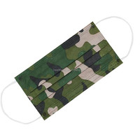Camouflage printing spunlace disposable mask face cover mouth and nose mask