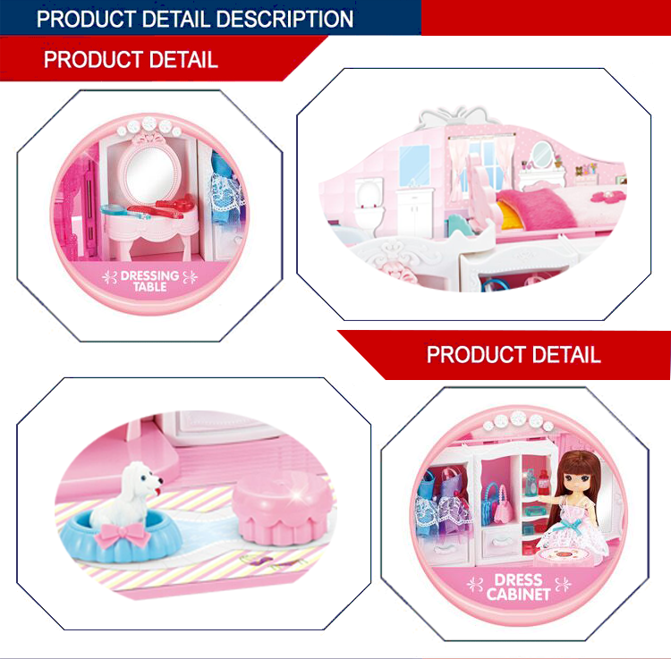 handbag plastic bedroom diy doll house furniture toys kids