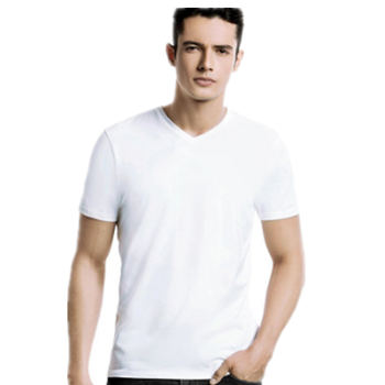 byval OEM brand factory online shopping in bulk men v neck mesh 100% polyester t shirt blank white custom t shirt