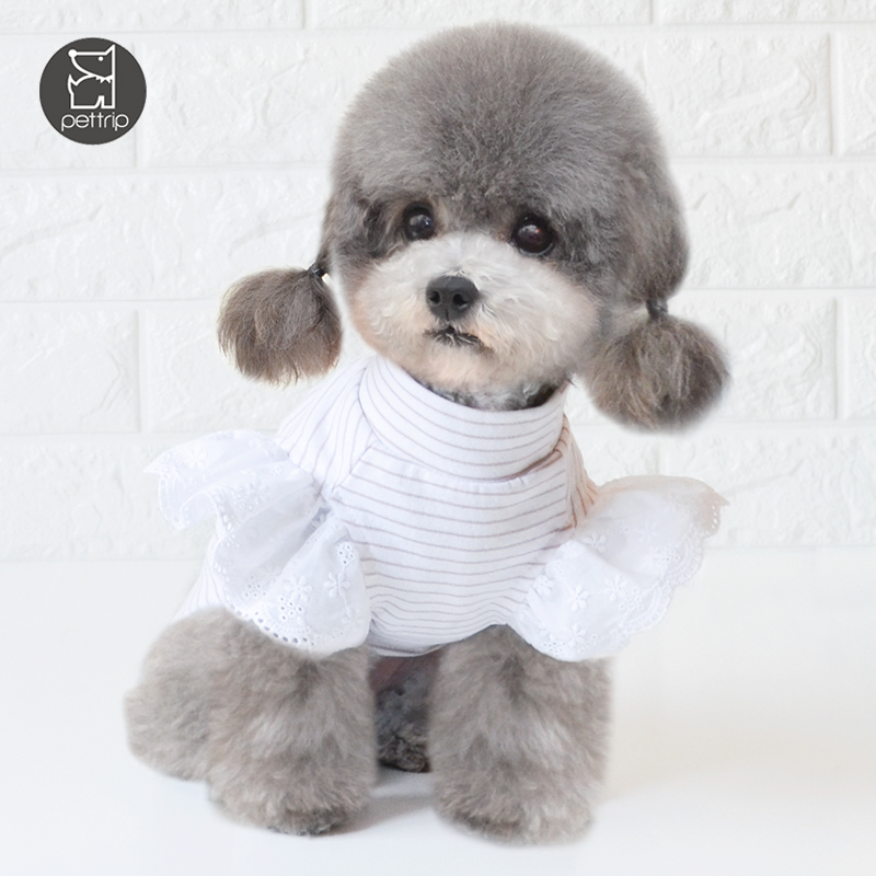 100% cotton small dog clothes spring pet apparel and accessories