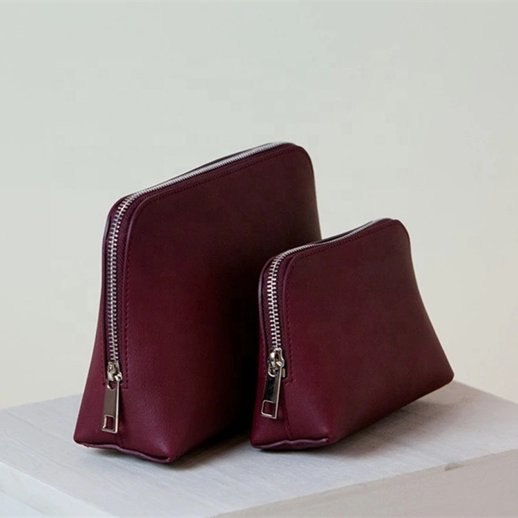 Luxury Vegan Leather Cosmetic Makeup Bag Pouch Cosmetic Case Set