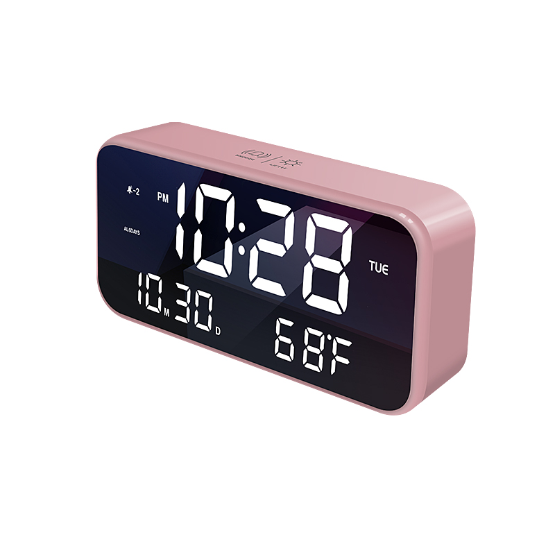 Wall clock usb charger alarm clock rechargeable digital clock led