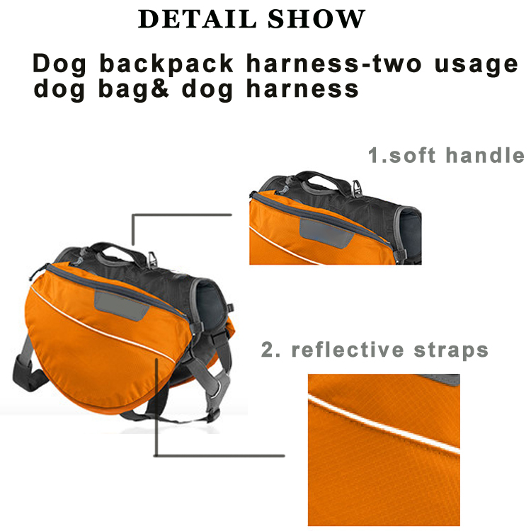 Best Dog Hiking Pack Dog Backpack Harness Pet Carrier Backpack Harness