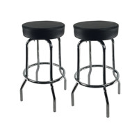 used swivel modern leather bar stool wholesale Chrome Steel circle seat bar stool