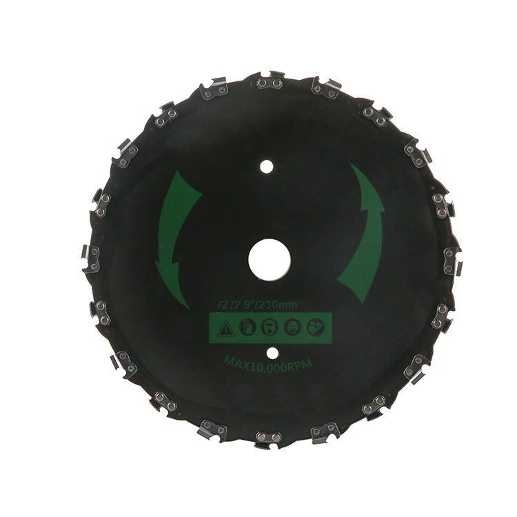 65MN 9 Inch Lawn Mower Accessories Metal <strong>Cutting</strong> Saw Blade