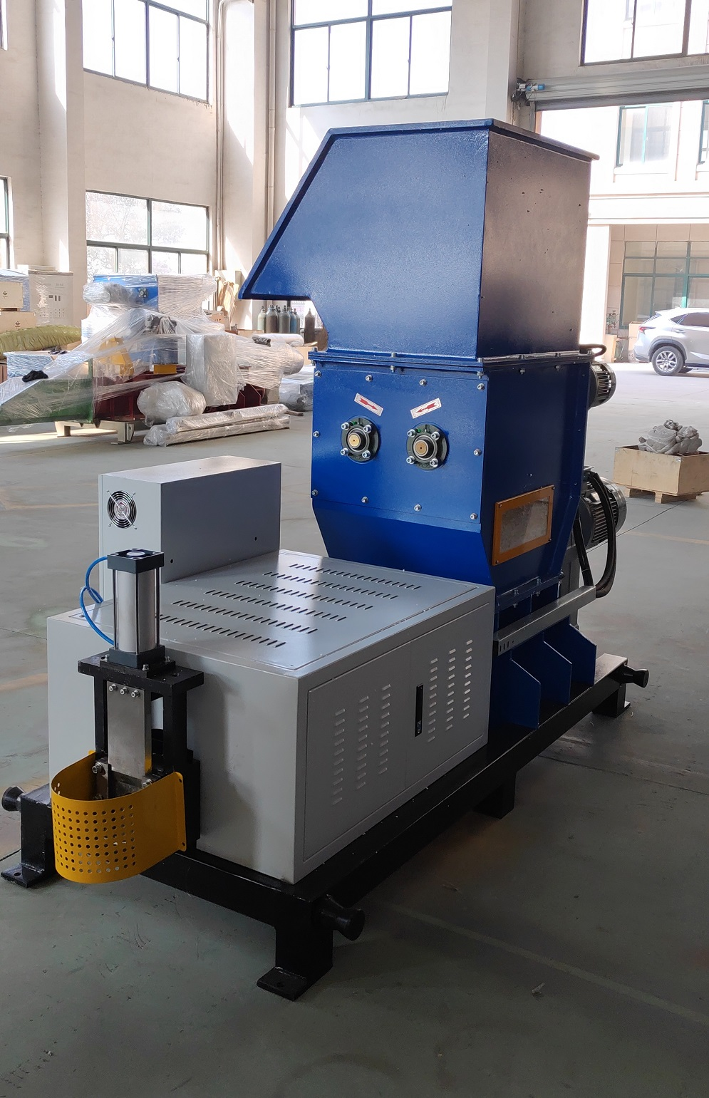 Reciclage polystyrene hot melting machine for waste plastic