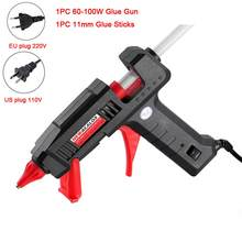 NEWACALOX EU/US 100 В ~ 240 В 30 Вт/60 Вт/100 Вт мини термоплавкий Клеевой пистолет с 7 м/11 мм клеевые палочки для рукоделия для домашнего ремонта DIY ручной ин...(Китай)