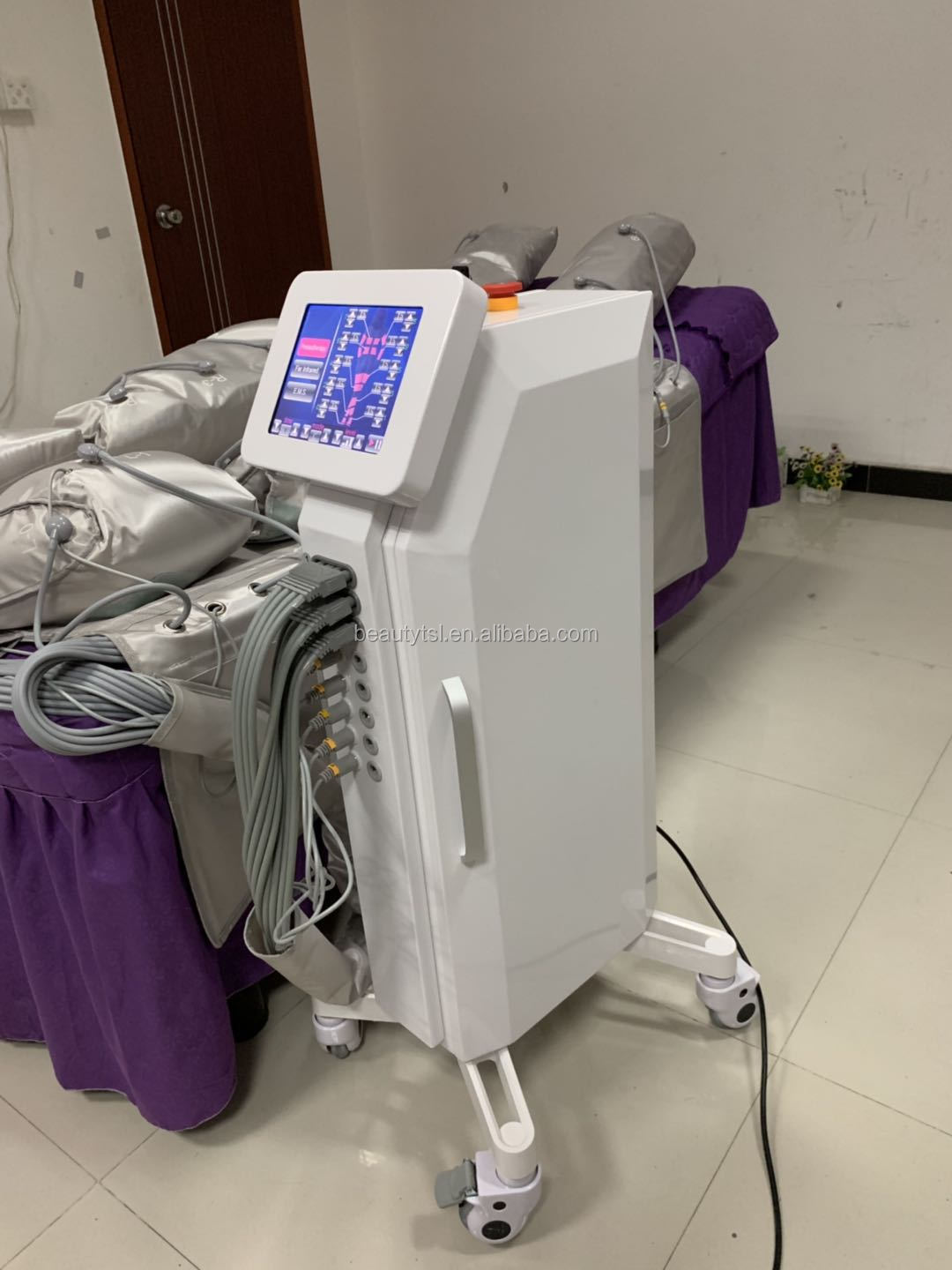 TSL-1120C 3 in 1 with EMS far infrared pressotherapy slim beauty equipment pressotherapy infrared thermotherapy cellulite machine 4.jpg
