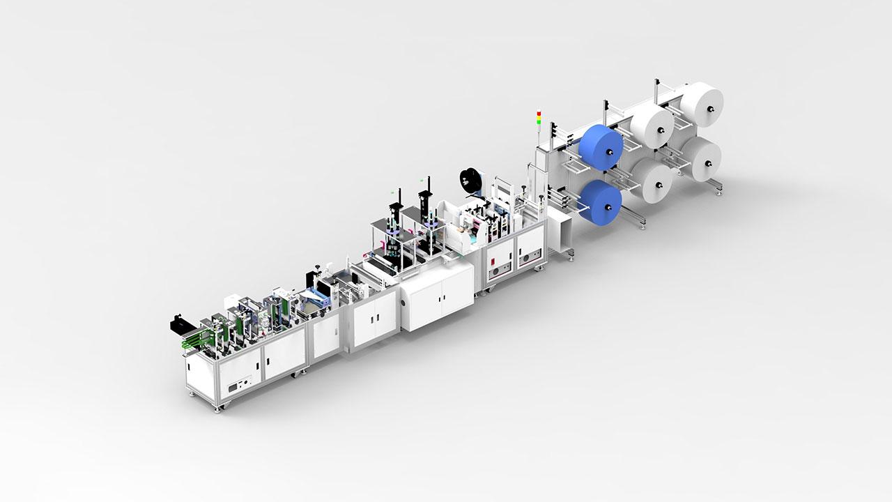 cnc plc control ultrasonic 3ply non-woven automatic mask making machine