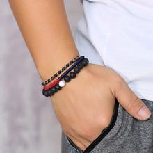 Vnox разнообразные браслеты для мужчин, набор из нержавеющей стали и кожи, регулируемые звенья цепи, мужские повседневные богемные украшения ...(Китай)