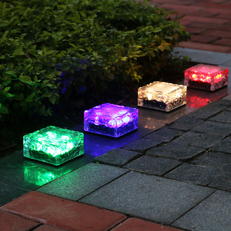 Brick Lights 2020 New product WaterproofIP67 led decorative paving RGB brick light led brick solar for Sale