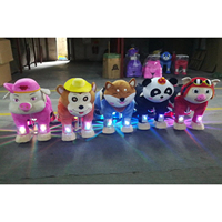 HI coin operated kiddie rides furry riding electric animals kids animal scooters