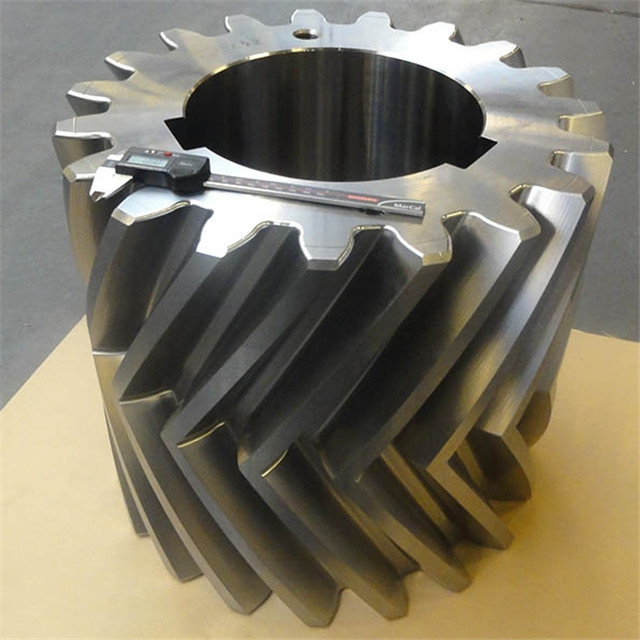5 Axis OEM CNC Castings Machining stainless steel heavy duty Double helical gears spare parts