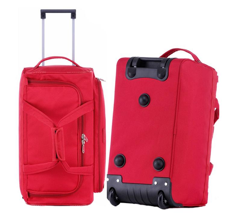 Экономичная красная колесная дорожная сумка для багажа, воздушная загрузка, дорожная сумка