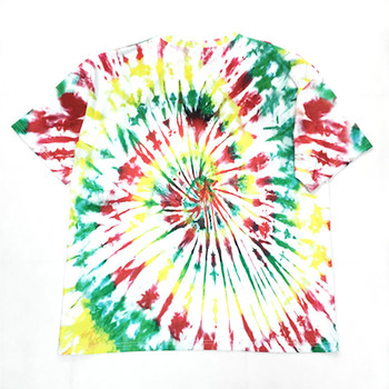 Ins fashion hip hop tshirts half sleeves tie dye looking paint splatter t shirt