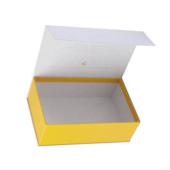 Free dieline design rigid gift paper box Chinese customized magnetic box with yellow color printing
