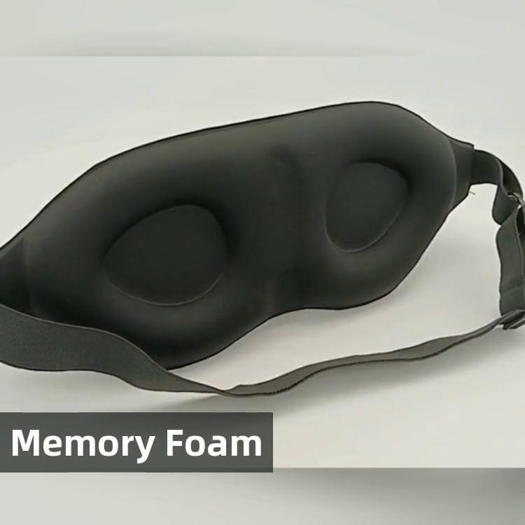 2020 di Disegno del Panda maschera per gli occhi, maschera di seta, benda sull'occhio con gomma piuma di memoria di EM-023