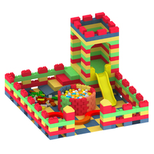 Novo design crianças playground indoor play set com epp bloco toy playhouse