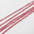 3mm Red Cube Shape  Loose Crystal Glass Beads