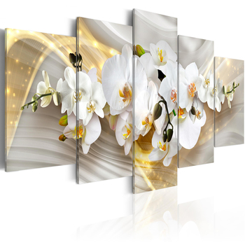 Orchid Flower Painting Modern Wall Decor Abstract Oil Natural Scenery Bedroom Decorative Picture Beauty Canvas Art