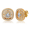 Dainty round cubic zircon stud earrings jewelry wholesale