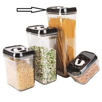 Stackable plastic storage canister with Airtight lid, BPA Free food storage container jar