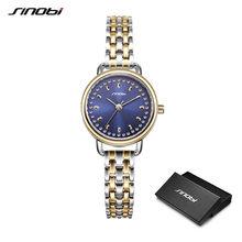 Sinobi Новые синие звездное небо женские часы Лидирующий бренд модные и элегантные женские кварцевые наручные часы женские часы из нержавеюще...(China)