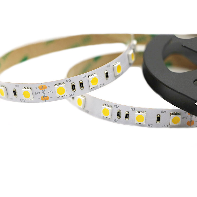 hot sale DC24V white smd5050 120leds/m IP20 led flexible strip light for indoor decoration factory manufacture