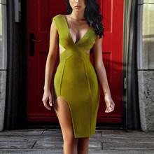 Леди-олень! Распродажа! Только $1! Ограниченное количество! Женское Бандажное боди облегающее сексуальное Клубное вечернее платье знаменито...(Китай)