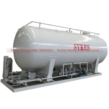 LPG Auto Filling Skid Station With 20m3 8MT LPG Gas Storage Tanker