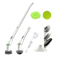 Electric Cordless Auto Power Bathroom Kitchen Hurricane Spin Machine Floor Scrubber Clean Brush