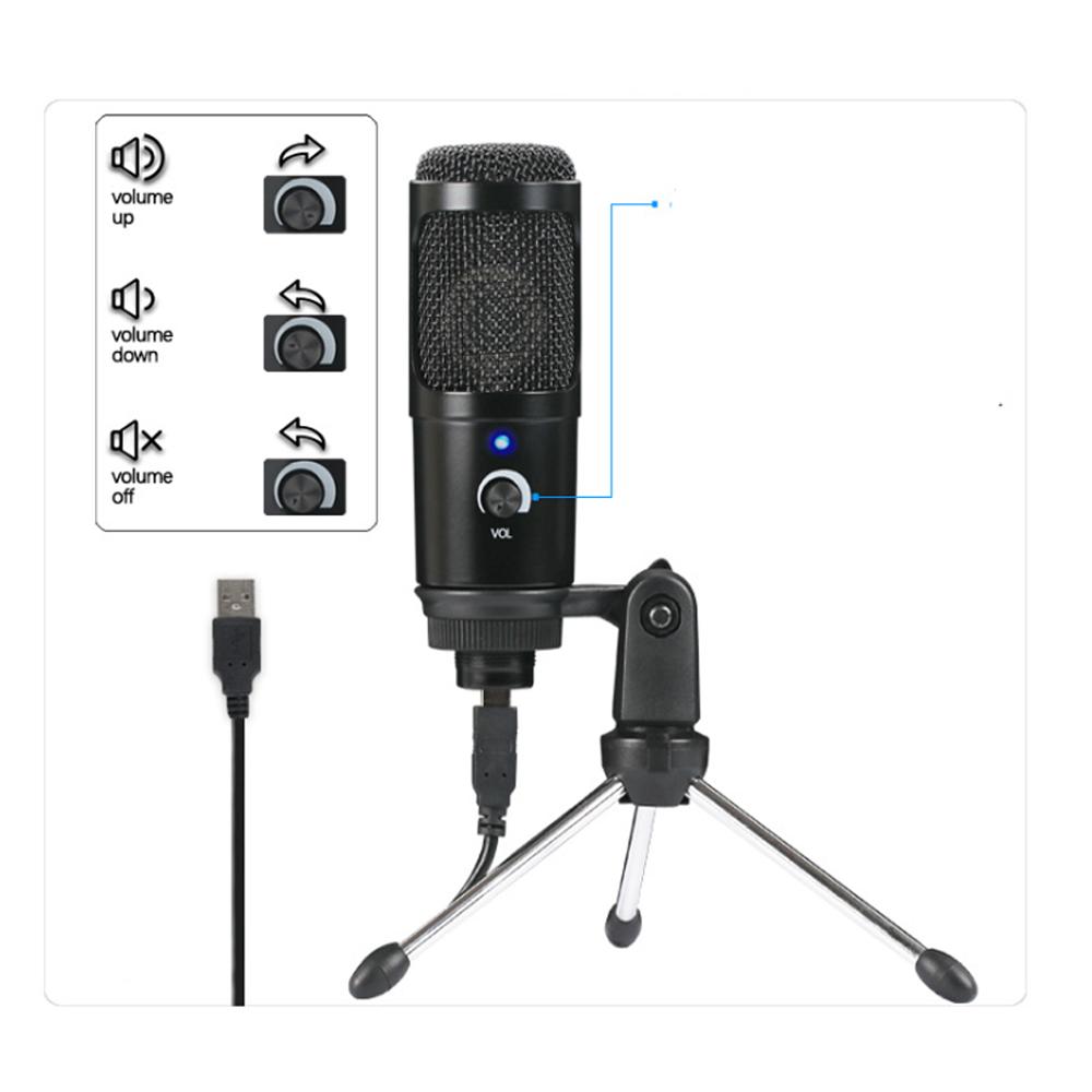 Video YouTuber Menggunakan Podcast USB Kualitas Tinggi Rekaman Kondensor Mikrofon Electret