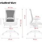 Office Ergonomic Executive Chair Modern High Back Executive Chair White Office Chair Ergonomic