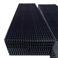 industrial water cooling tower fill, plastic evaporative cooling pad, honeycomb cooling pad