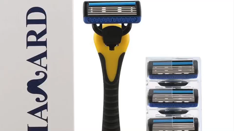 hair removal razor with refills cartridges rechargeable razor & blade 5 blades shaving
