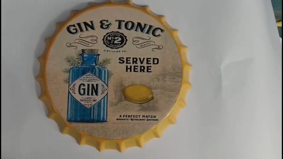 Tappo di bottiglia A Buon Mercato Dell'annata del Metallo di Amore Tin Kitchen Segni