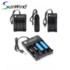USB Smart Charger For Li-ion 14500 16340 1665 14650 18350 18500 26650 Battery