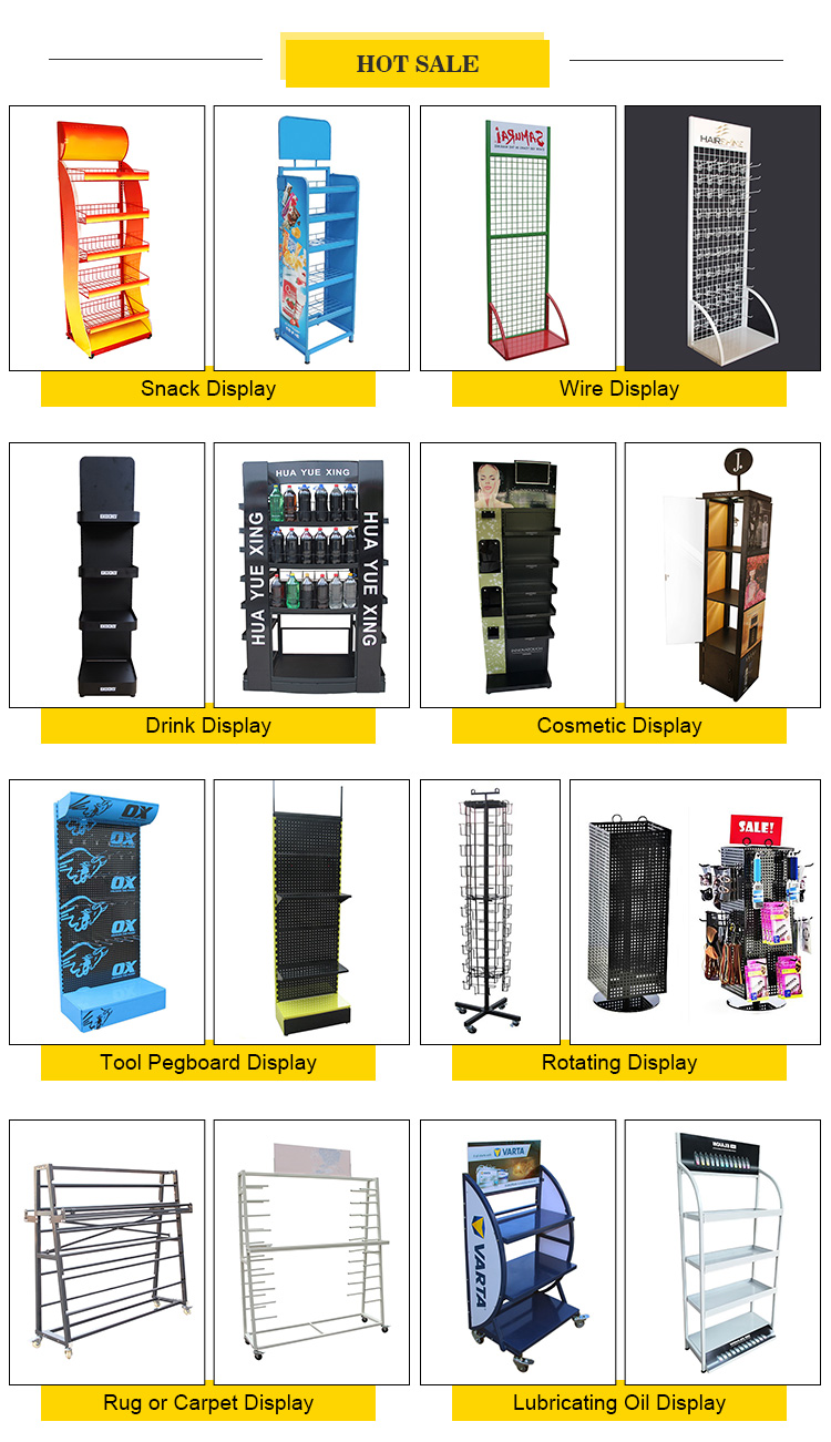 OEM מותאם אישית יצרן הקמעונאי מכירות מתכת מוצר מדגם רצפת expositor תצוגת stand ומדף