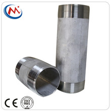 Pembuatan Sch40 Bspt Bspp NPT Pipe CONNECTOR Kedua End Benang Stainless Steel 304 316 Barrel Nipple Fitting <span class=keywords><strong>Pipa</strong></span>